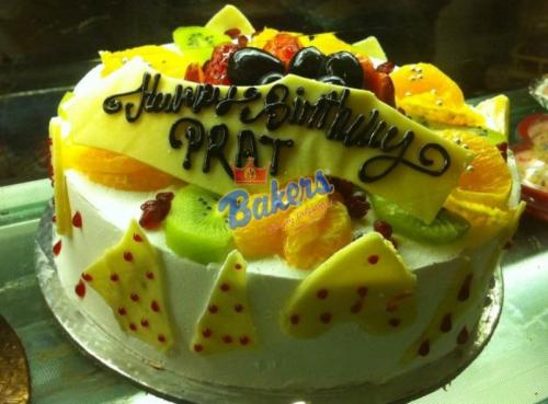 Fresh Fruit Topping Cake - 2 Pounds