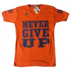 Never Give Up Printed Men's T-Shirt - (EC-036)