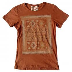Light Brown Printed T-Shirt - (EC-032)