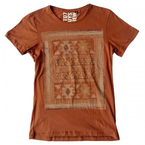 Light Brown Printed T-Shirt - (EC-032)