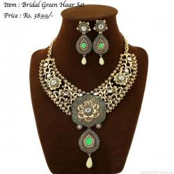 Bridal Green Haar Set