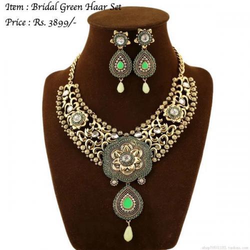 Bridal Green Haar Set