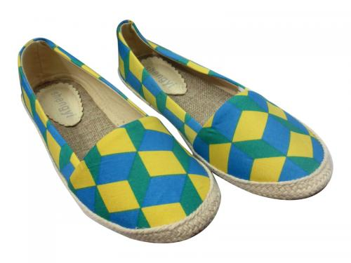 Ladies Blue/Yellow Shoes
