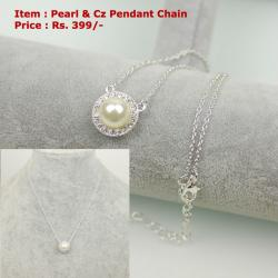CZ Pearl Pendant