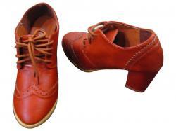 High Block Heel Shoes (D.Brown,Black,Brown)