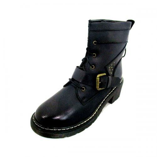 Dr. Marten Dark Black Leather Boot