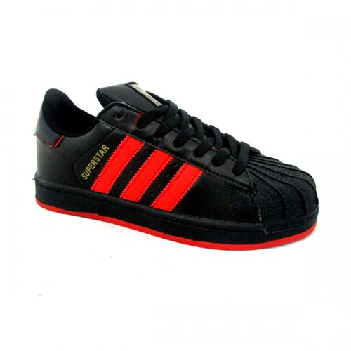 Superstar Black & Red Sports Shoes