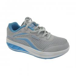 Gray & Blue Mix Color Sports Shoes for Women