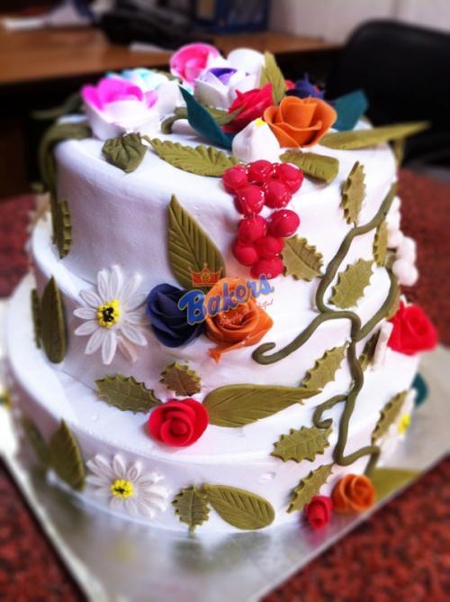 Multi Decked Marzipan Cake - 1KG