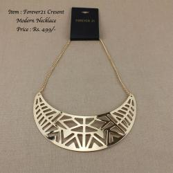 Forever21 Crescent Modern Necklace