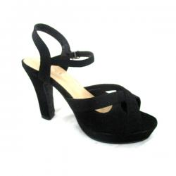 Dark Black High Heel Shoes