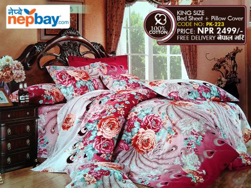 King Size - 100% Cotton Bedsheet (PK-223)