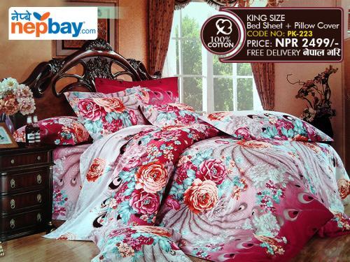 King Size - 100% Cotton Bedsheet (PK-223)
