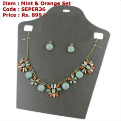 Mint & Orange Set