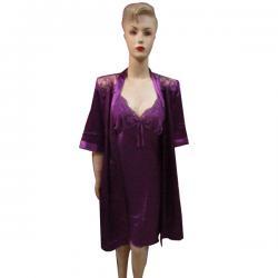 Purple Silk Nightwear