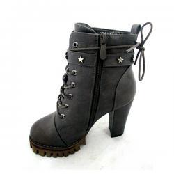 Ladies Gray High Heel Boot