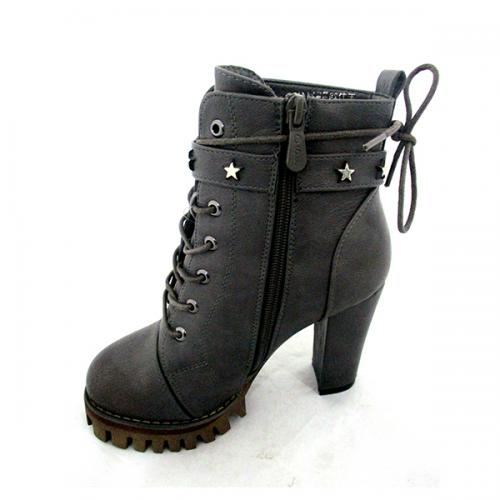 Ladies Gray High Heel Boot