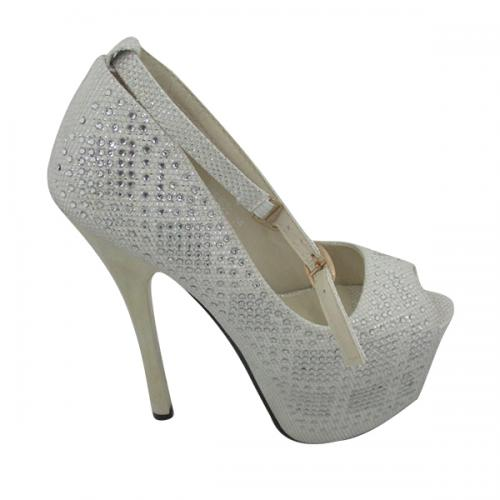 Ladies White High Heel Shoes