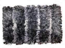 black Striped Fancy Bathroom mats