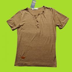 Round Neck with Half button Body Size T-Shirt (EC-065)