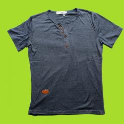 Cotton Bluish Grey T-Shirt - (EC-068)