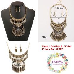 Feather CZ Set