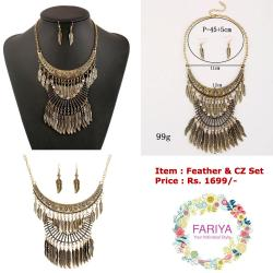Feather CZ Set
