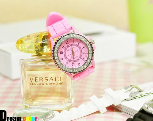 Pink Geneva Diamante Watch