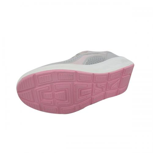 Gray & Pink Mix Color Sports Shoes for Women