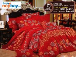 King Size - 100% Cotton Bedsheet (PK-221)