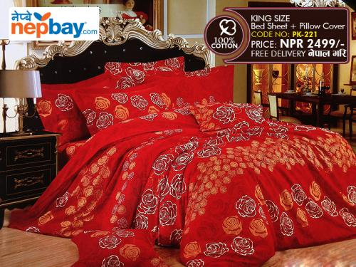 King Size - 100% Cotton Bedsheet (PK-221)