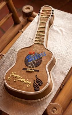 Guitar Model Cake - 4 Pounds