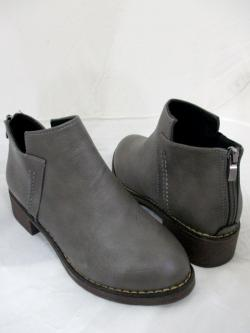 Women Leather Ankle Boots Classy Comfortable Back Zipper Shoes
