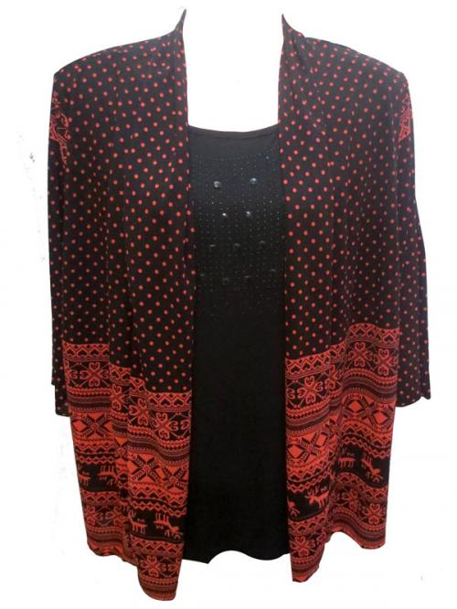 Ladies Dotted Outer