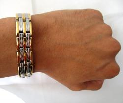 4 in1 Stainless Steel Energy Bracelet - small