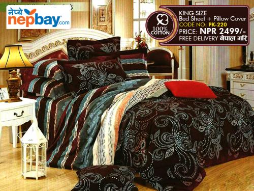 King Size - 100% Cotton Bedsheet (PK-220)