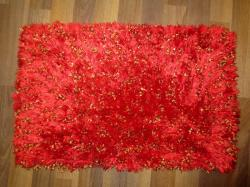 Red Fancy Bathroom Mats