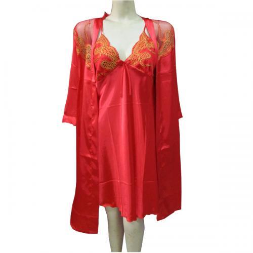 Red Silk Nightwear