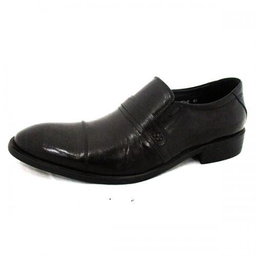 Men's Dark Coffee Color Shiny Party Shoes