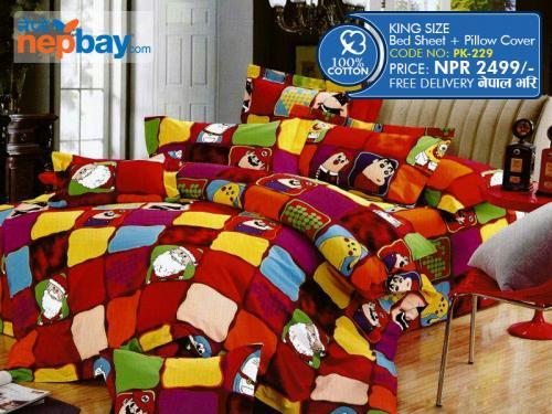 King Size - 100% Cotton Bedsheet (PK-229)