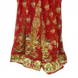 Red Embroidery Saree - (AE-023)