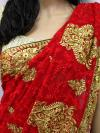 Red Embroidery Saree - (AE-013)