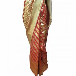 Red Banarashi Saree - (AE-015)