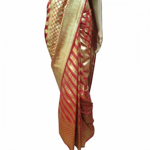 Red Banarashi Saree - (AE-015)