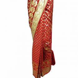Red Banarashi Saree - (AE-016)