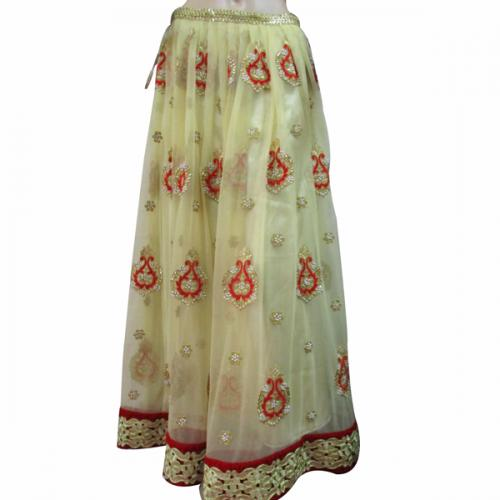 Golden Color Embroidery Lehenga - (AE-021)