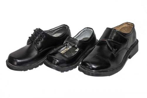 Black Stylish Kids School Shoe (TK-KS-003)