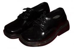 Black Simple Kids School Shoe (TK-KS-002)