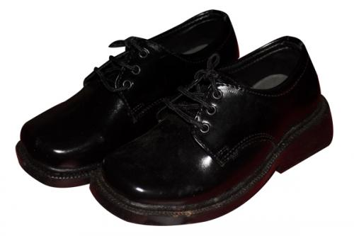 Black Simple Kids School Shoe (TK-KS-002)