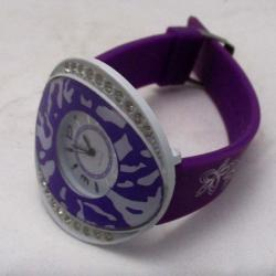 Ladies Fancy Natural Purple Band Flower Fashion Watch - (ARCH-161a)